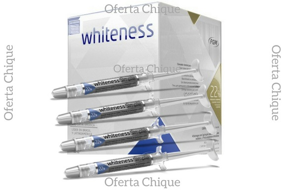 Kit Clareamento Dental Whiteness Clareador 22 4 Seringas R 51 45