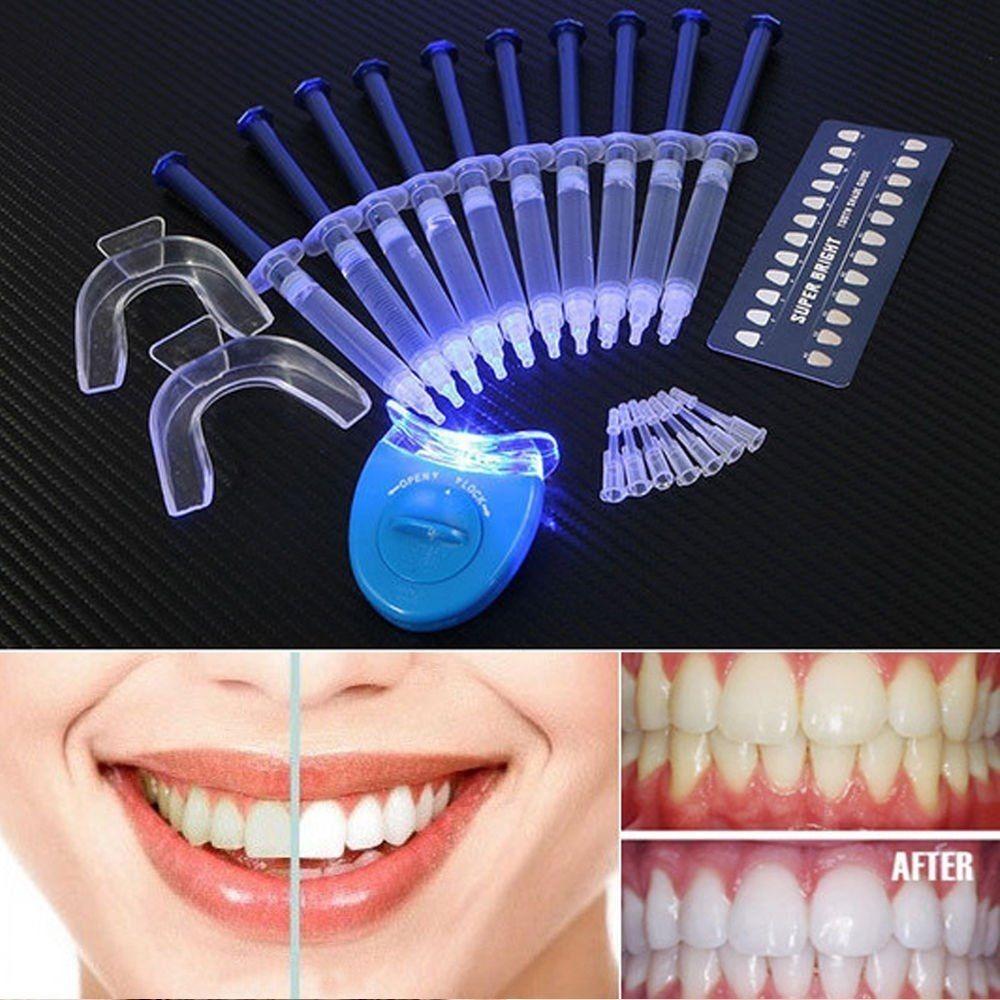 Kit Clareamento Dental Whiteness Gel 44 10sering Luz Remin R 75