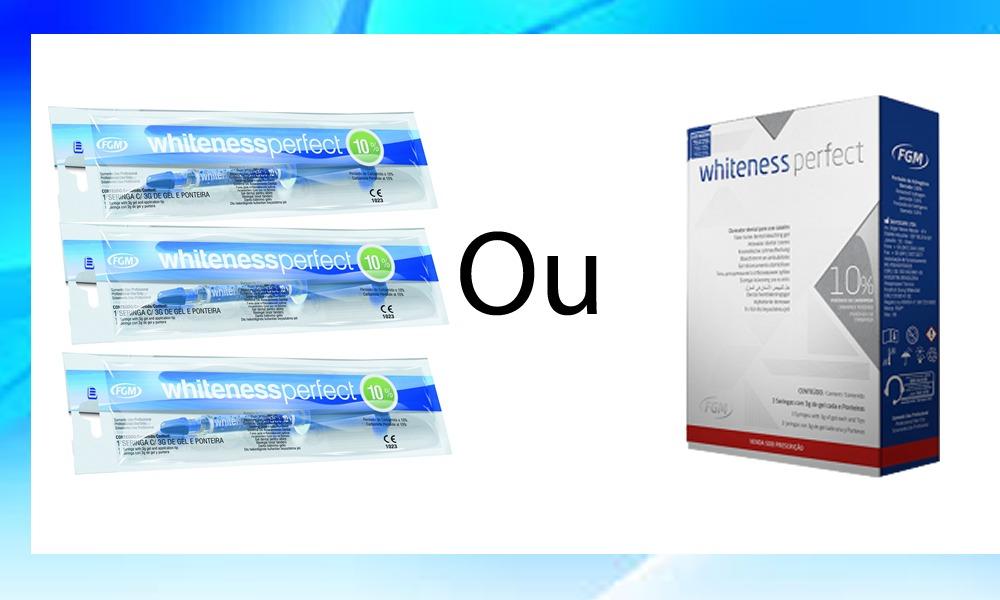 Kit Clareamento Dental Whiteness Perfect 10 Mold Estojo R 99