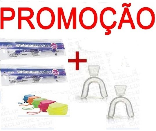 Kit Clareamento Whiteness Perfect Gel 22 C 2 Moldeira R 55 00