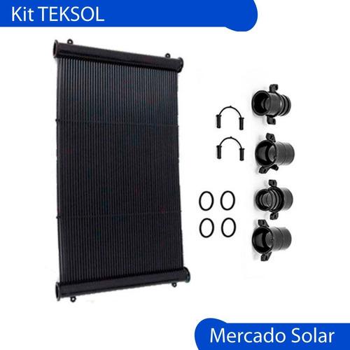 kit climatización solar de piletas completo teksol 12m2