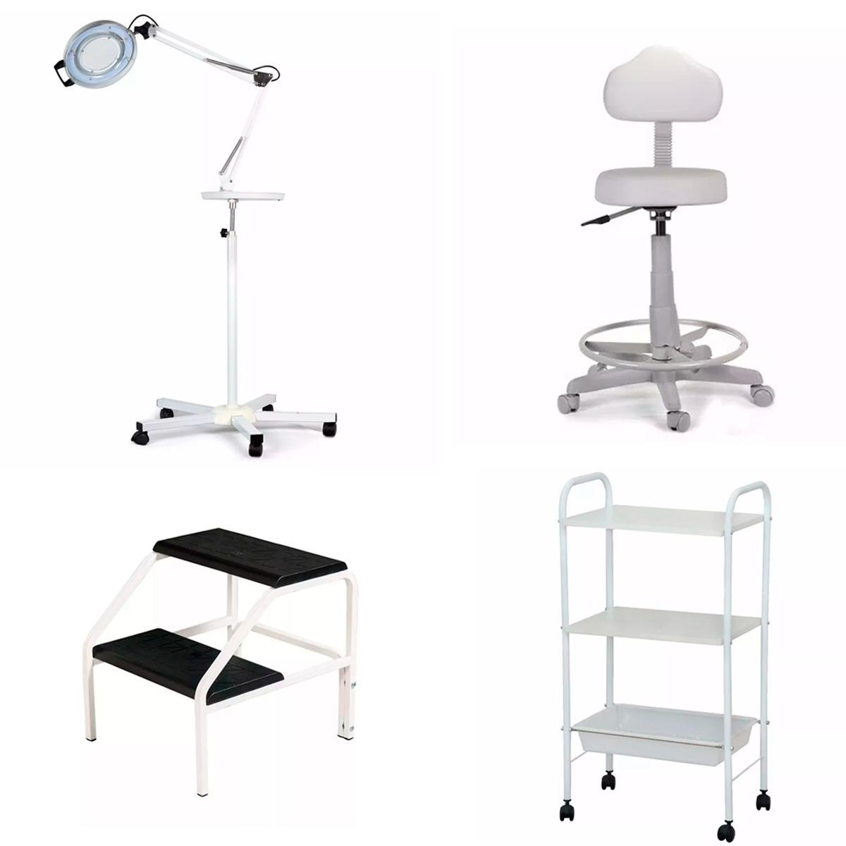 kit clínica de estética, mocho + escadinha + carrinho + lupa. Carregando  zoom. aea3d96c3a