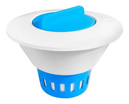 kit clorador flutuador para piscinas 5 pastilhas cloro