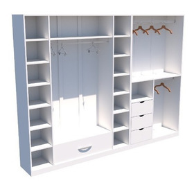 Kit Closet Ou Loja Armário Colmeia Cabideiro M15 100% Mdf