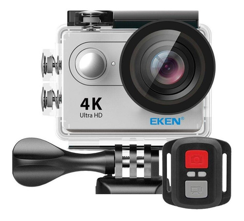 kit câmera 4k sport eken h9r original wi-fi + 32gb + bastão