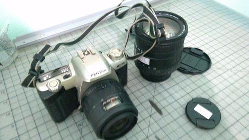 kit câmera fotográfica pentax mz-50 + tripé vivitar + lente