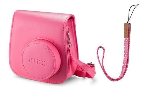 kit câmera instantânea fujifilm instax mini 9 rosa flaming