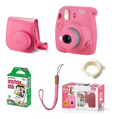 kit câmera instantânea fujifilm instax mini9 c/bolsa e filme