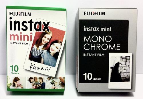 kit câmera  instax mini 9 azul acqua + 5 pacotes de filmes