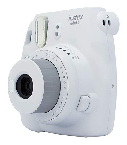 kit câmera instax mini 9 branco gelo + 5 pacotes de filmes
