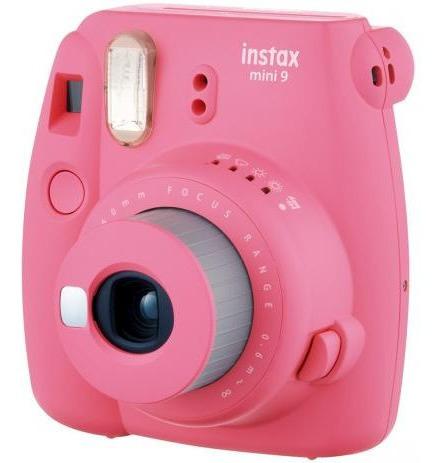 kit câmera instax mini 9 filme + porta fotos