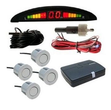 kit câmera ré + sensor estacionamento 4 sensores e display