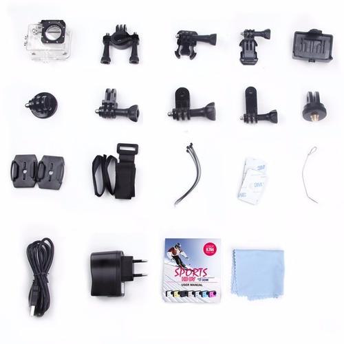 kit câmera sj4000 sjcam original +32gb +bastão 1080p full hd
