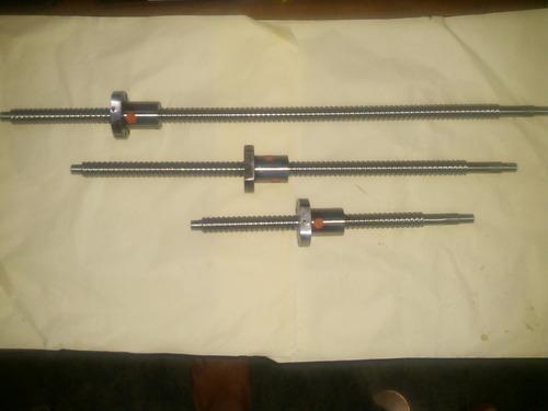 kit cnc 3 tornillos 16mm mec y 3 tuercas bolas recirculantes