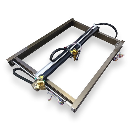 kit cnc para máquina de corte láser co2 60x40cm motores nema