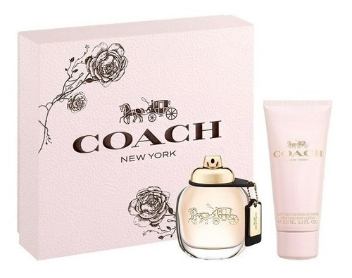 kit coach woman edp 50ml + loção corporal 100ml - original