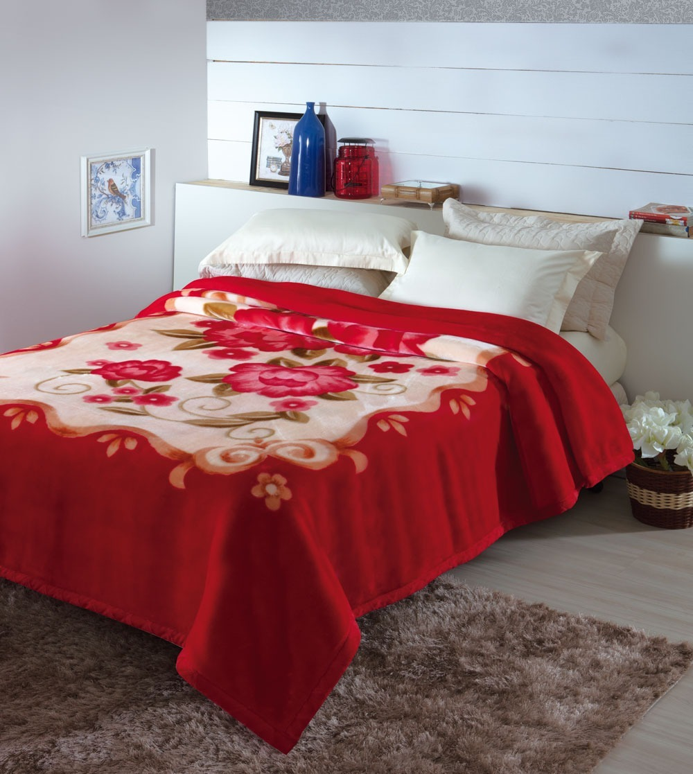 9f04923377 Kit Cobertor Casal Antialergico Loures Jollitex Mais Brinde - R  119 ...
