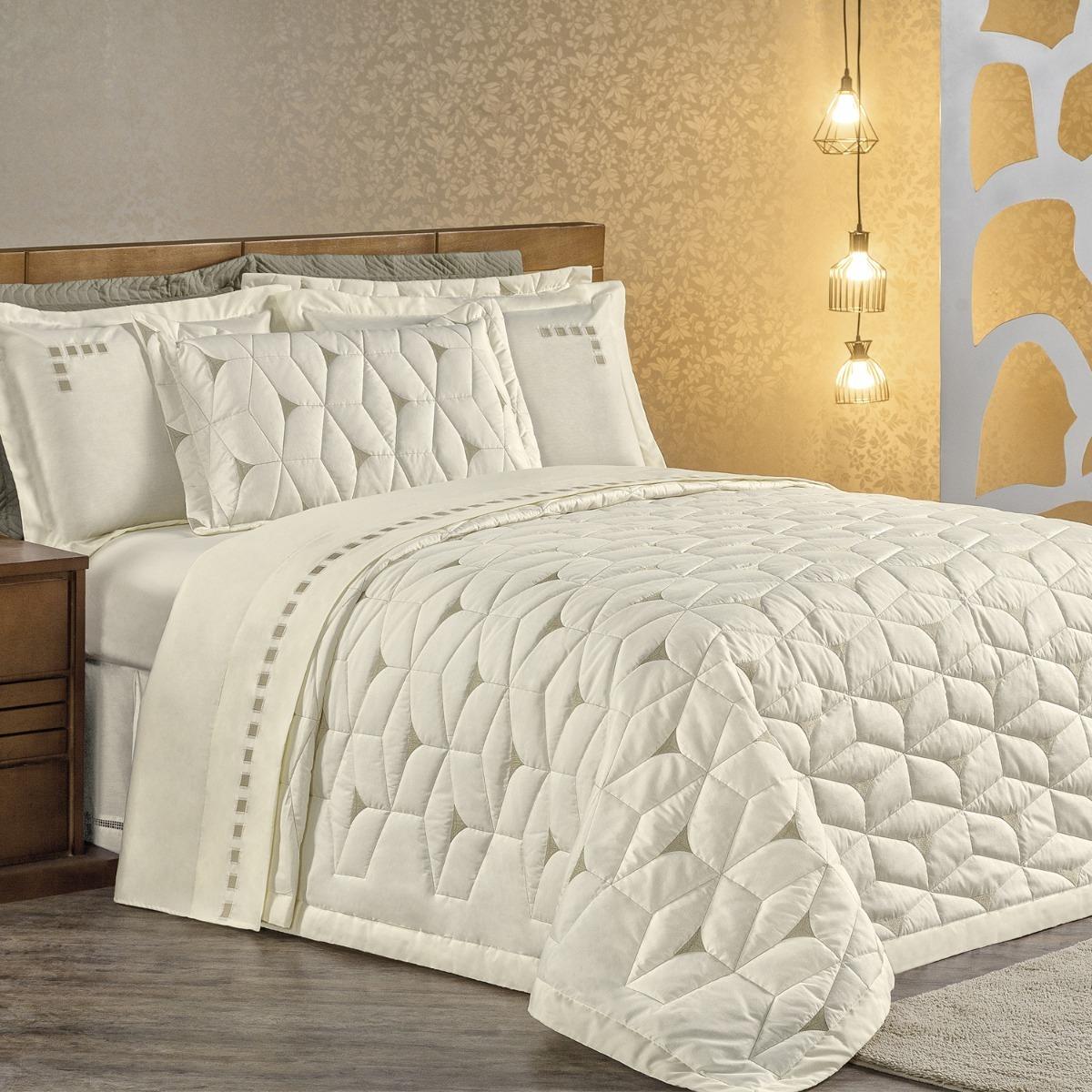 97134c409d kit cobre leito cama casal padrão + jogo de cama 7 peças. Carregando zoom.