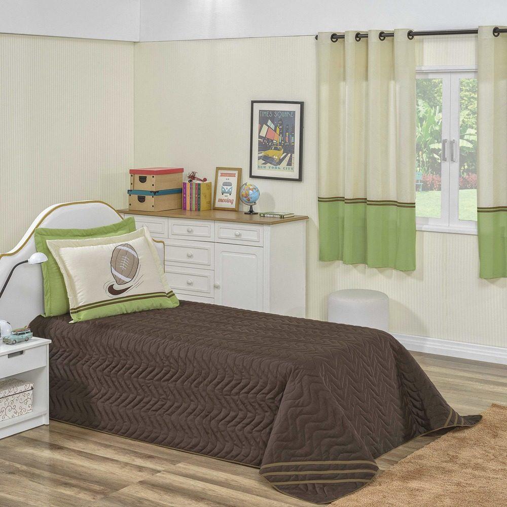 98ca94d335 kit cobre leito menino colcha infantil + cortina quarto 4 pç. Carregando  zoom.