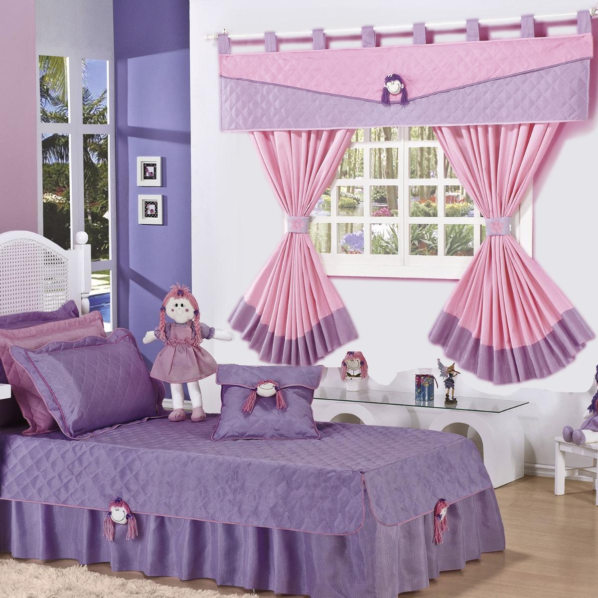 2fbf4d91cf kit cobre leito solteiro infantil menino ou menina + cortina. Carregando  zoom.