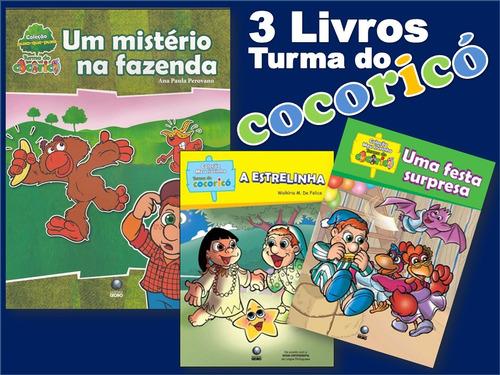 kit cocoricó - 3 livros infantis