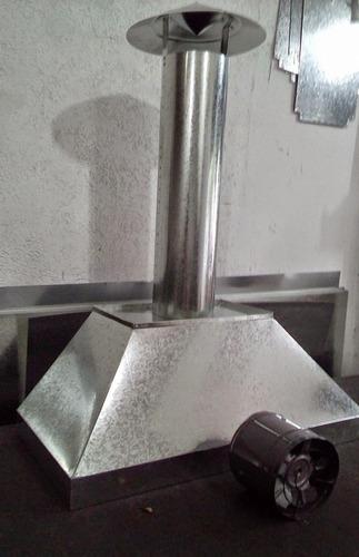 kit coifa industrial em galvanizado completo com exaustor