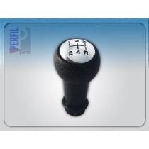 kit coifa preta com aro prata + manopla cambio c3 até 2012