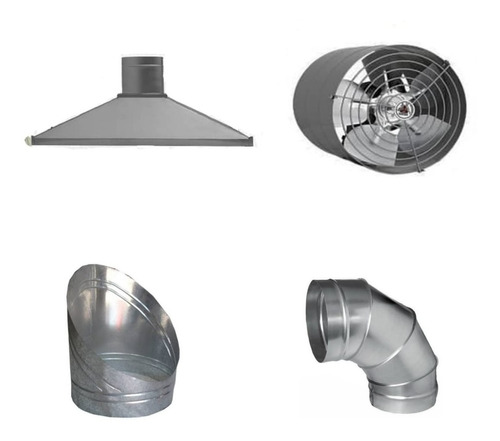 kit coifas industriais