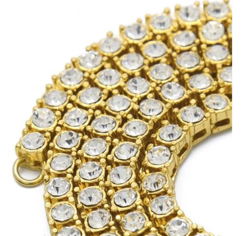 kit colar 60cm 5mm + pingente cravejada ouro 18k jesus santa religião hip hop funk mc ostentação neymar lxbr bl63