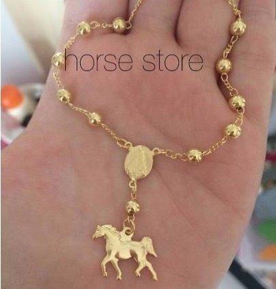 afbd9acb1b554 Kit Colar E Pulseira Country Cavalos Fazenda Folheado Ouro - R  38 ...