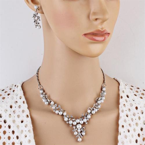 kit colar feminino e brincos festa luxo formatura casamento