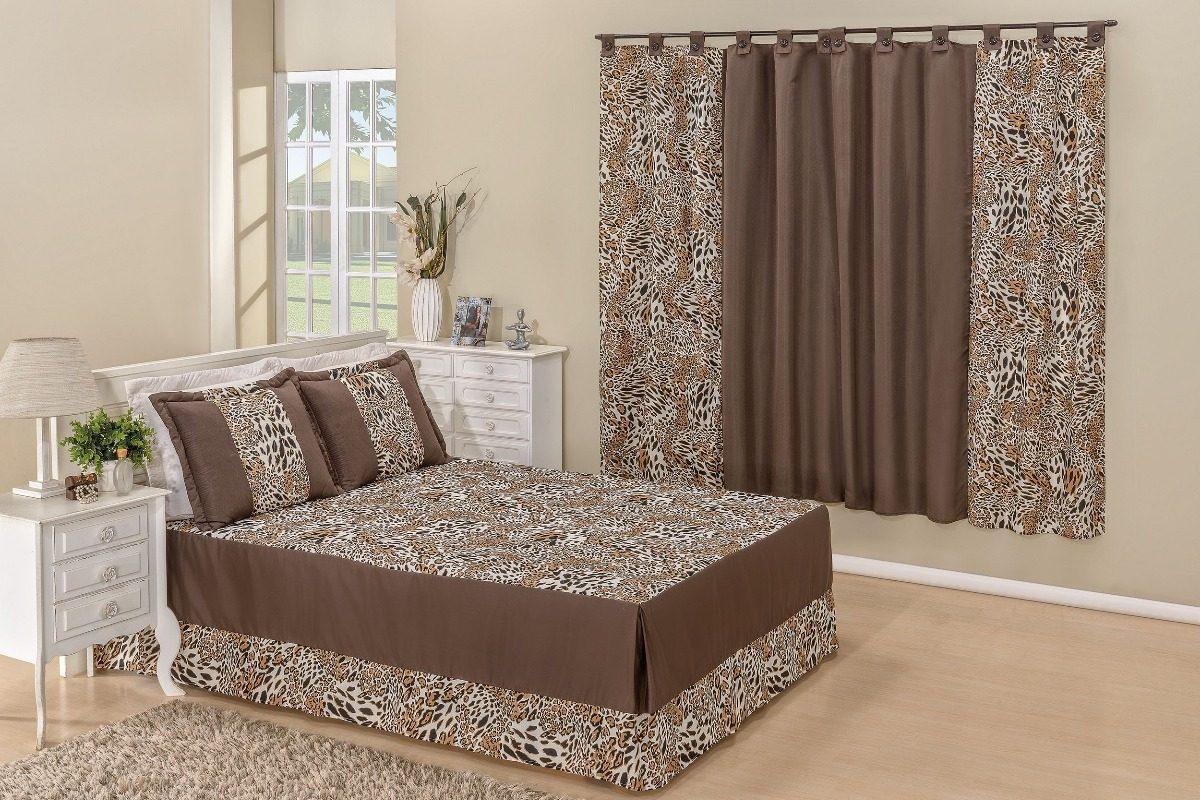 52addb0195 kit colcha casal queen + cortina valentina 4 pçs cobre leito. Carregando  zoom.