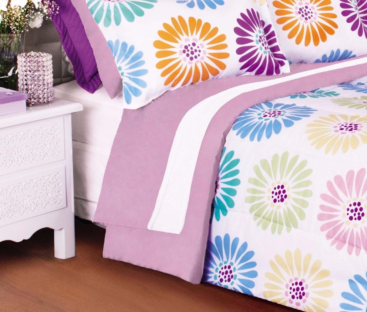 ad19c49570 kit colcha edredom casal king + jogo de cama 7 pçs lilas. Carregando zoom.