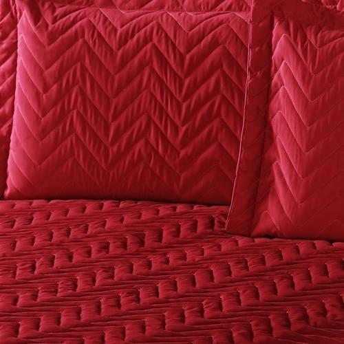 kit colcha matelado queen 4pç clean para dia a dia v. cores