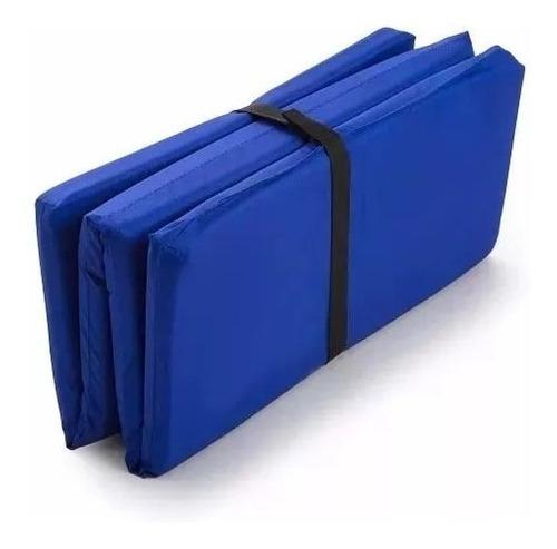 kit colchoneta plegable rueda abdominal mancuerna combo pesa
