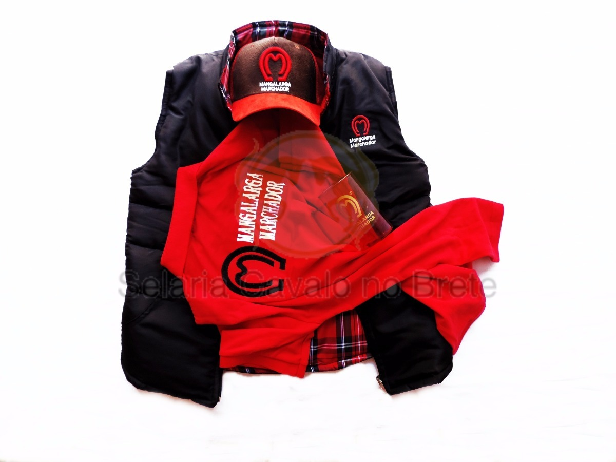 b320b3480c kit colete mangalarga marchador+ camisa bone e caneca oferta. Carregando  zoom.