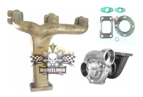 kit coletor tubagem e turbina caminhão 608 709 om314