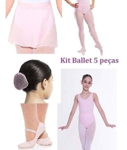 cd1acc1f03 Kit Collant Manga C/ Decote - Ballet - Capezio Infantil Rosa - R ...