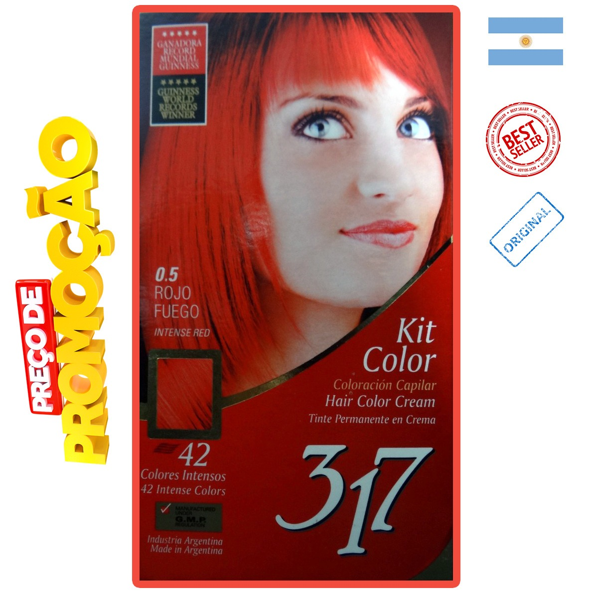 Kit Color 317 C 10 Pcs Tinta Cabelo Argentina Original R 66 00