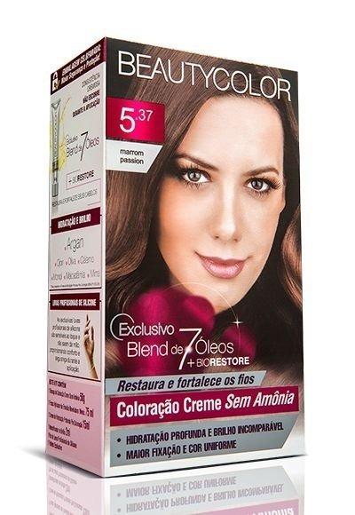 147e10130fda Kit Coloração Sem Amônia Beautycolor 5.37 Marrom Passion