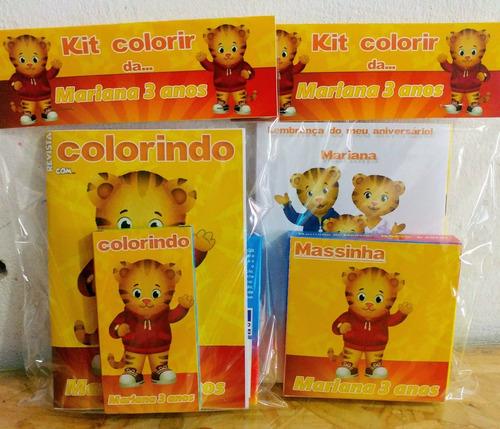 kit colorir com massinha modelar com giz de cera 6 cores!