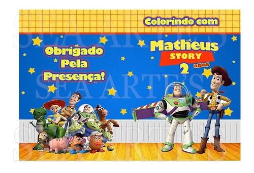 kit colorir revista e giz toy story - 50 unidades.