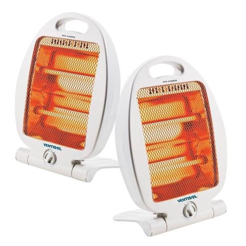 kit com 02 aquecedores residenciais 800w - ventisol (110v)