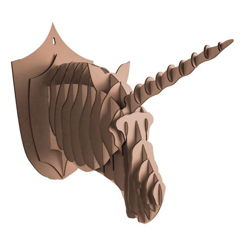 kit com 02 cabeças -alce, rinoceronte, elefante ou unicórnio