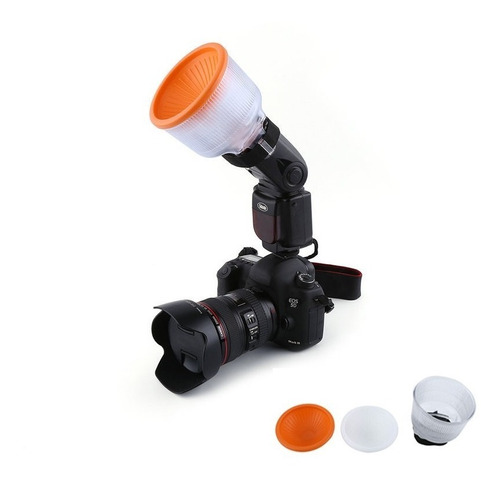 kit com (02) difusor lambency universal para flash