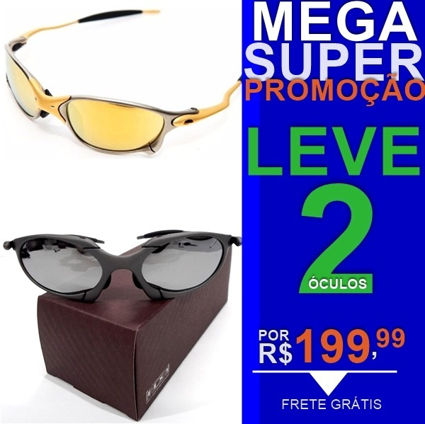 46d86c9f80023 Kit Com 02 Oculos De Sol Marca Oakley Xmetal Atacado Revenda - R ...