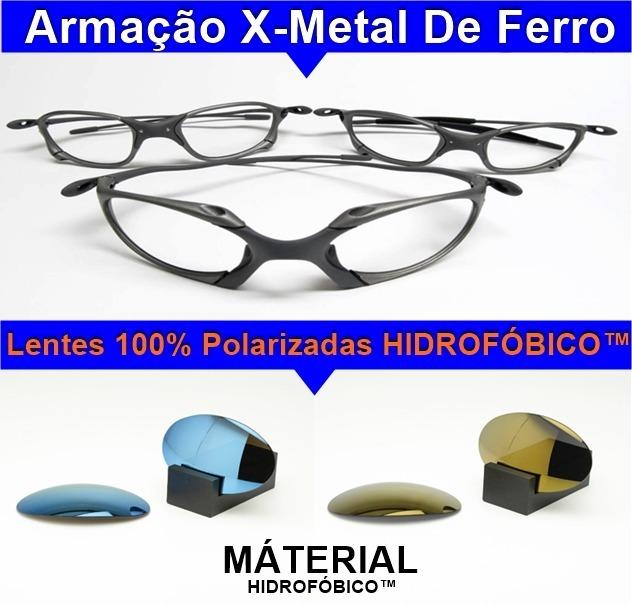 1fc06437514f5 Kit Com 02 Oculos De Sol Marca Oakley Xmetal Atacado Revenda - R ...