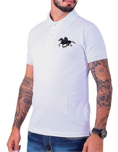 kit com 02 polos tradicionais da marca preto e branco