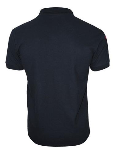 kit com 02 polos tradicionais da marca preto e vermelho