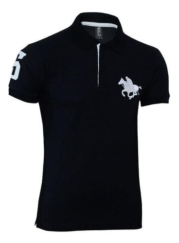 kit com 02 polos tradicionais  preto e cinza plus size